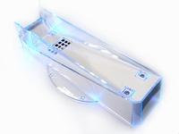 Koelings houder met blauwe verlichting voor Wii